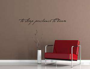 TO SLEEP PERCHANCE TO DREAM Vinyl wall lettering sayings words decals
