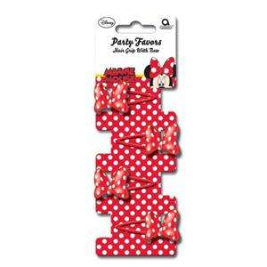 Minnie Mouse Red Polka Dot Party Favours   Hair Clips x 4