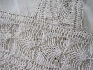 VICTORIAN LINEN Heavy LACE Tablecloth Table Runner Piano Scarf 86
