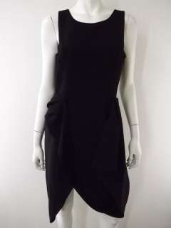NWT $248 Womens black sleeveless gathered dress BCBG Maxazria Gretchen