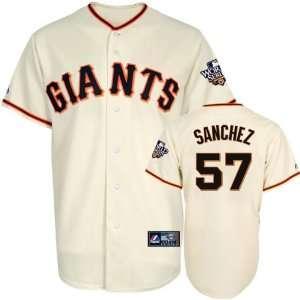 Jonathan Sanchez Jersey San Francisco Giants #57 Home Replica Jersey