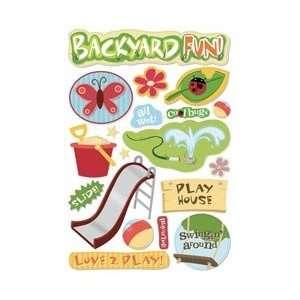Karen Foster Backyard Fun Cardstock Stickers 5.5X9 Backyard Fun