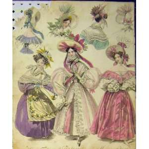 1831 Womens Fashion Morning Dresses Head Dresses Hats