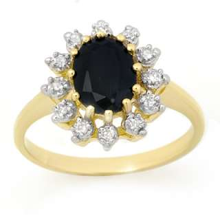 Certified 2.40ctw Sapphire & Diamond Ring Yellow Gold