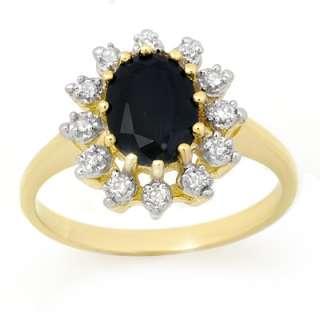 Certified 2.40ctw Sapphire & Diamond Ring Yellow Gold |