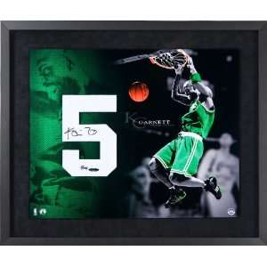Kevin Garnett Autographed Jersey Numbers Piece  Sports