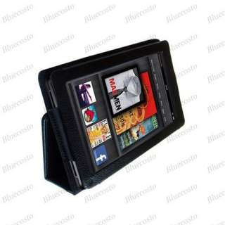 Folio PU Leather Case Cover For  Kindle Fire 7 Tablet BlueCosto