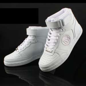 New MENS Paperplanes Air Force Basic White Hi top Mid