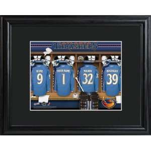 Personalized Atlanta Thrashers Locker Room Print Sports