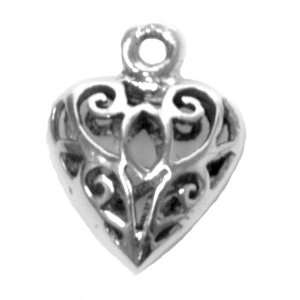 Celtic Style Heart Charm   Sterling Silver Arts, Crafts