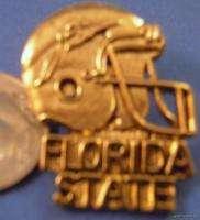 WHOLESALE 36 FSU FLORIDA STATE SEMINOLES FOOTBALL PINS ncaa gold lapel