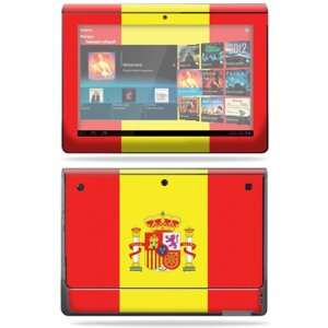 Vinyl Skin Decal Cover for Sony Tablet S Spain Flag Electronics