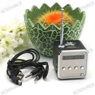 TF USB Mini Speaker Music Player Portable FM Radio Stereo PC  IP20