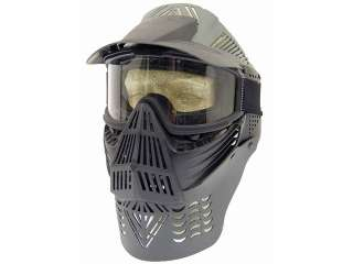 Airsoft Mask W/ Goggles HALO FACE Neck Guard Full Face