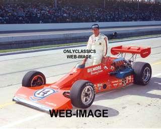 1975 A.J. FOYT  POLE WINNER INDY 500 GILMORE RACE PHOTO