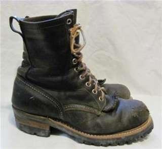 Vintage Red Wing Steel Toe Logger Boot Men sz 8 D