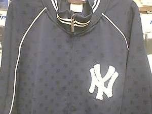 NEW YORK YANKEES NAVY BLUE LOGO JACKET ADULT. NWT