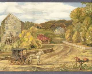 AMISH HORSE & CARRIAGE COUNTRY Wallpaper bordeR Wall