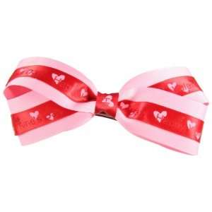 Genuine LexaLou Happy Valentines Day Pink Hair Bow Beauty