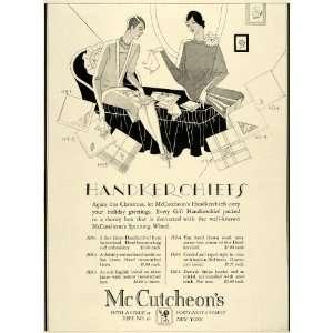 1926 Ad Art Deco McCutcheons Handkerchiefs Christmas