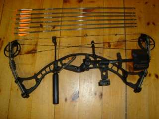 60 70# Compound Bow Package quiver rest sight arrows stabilizer