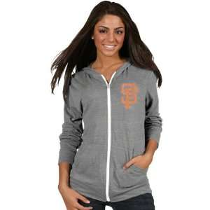 San Francisco Giants Womens Grey Ballpark Full Zip