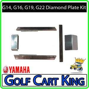 Yamaha G14 G22 Golf Cart Diamond Plate Accessories Kit