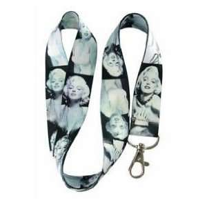 Marylin Monroe Beautiful Black & White ~ Lanyard Keychain