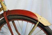 Vintage 1939 Gambles Hiawatha Pre war balloon tire bicycle bike red