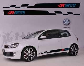 VW Volkswagen R GTI Logo Racing #5 Car Side Decal Sticker Full Color