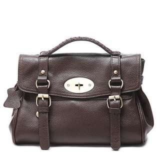DUDU Genuine Leather Handbag Messenger Bag 12.6 0751W