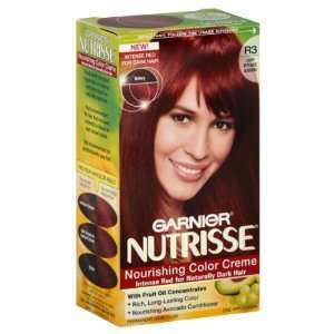 Garnier Nutrisse Haircolor, R3 Light Intense Auburn Nourishing Color