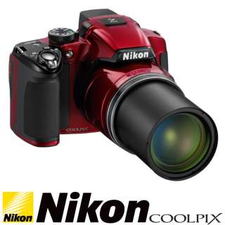 New Boxed Nikon Coolpix P510 Digital Camera Red // 42x Optical Zoom