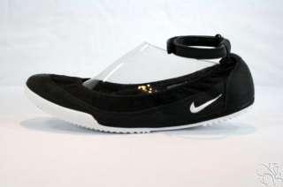 NIKE Tenkay Slip Ballet Flats Black Womens Shoes NEW