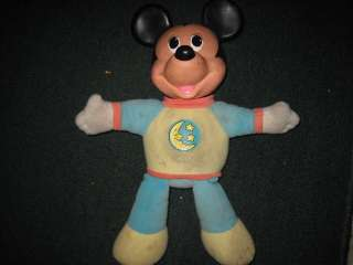 Disney MICKEY MOUSE Nighttime Pajamas Plush ~ 1990