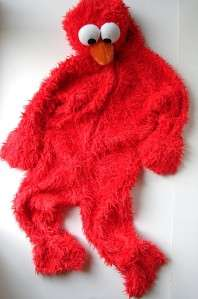 Sesame Street Elmo Muppet Furry Costume Outfit 3T 4T
