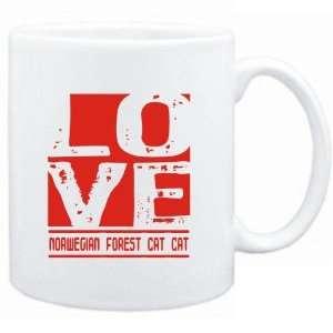Mug White  LOVE Norwegian Forest Cat  Cats