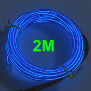 2M Flexible Neon Light Glow EL Wire Rope Car Party 8#