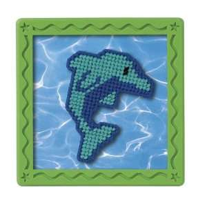 Stitch X Press   Blue Dolphins Plastic Canvas Kit: Toys & Games