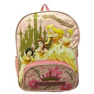 Disney Princess Gold Pink Girls School Backpack Bag: Toys & Games