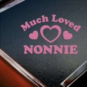 Much Loved Nonnie Pink Decal Car Truck Window Pink Sticker