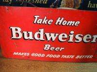 1940s Large Tin sign Makes Good food Better St Louis
