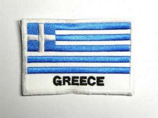 GREECE EMBLEM GREEK FLAG IRON ON PATCH EMBROIDERED I004