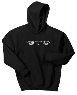GTO PONTIAC HOODIE BLACK SWEAT SHIRT GOAT MUSCLE CAR 19 64 65 66 67 68