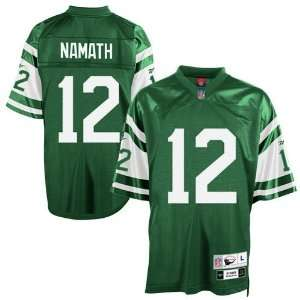 Reebok NFL Equipment New York Jets #12 Joe Namath Green Tackle Twill