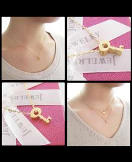 Japanese Petite K14 Yellow Gold Hello Kitty Necklace