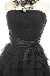 NWT AUTH $532 Betsey Johnson Heartbreaker Chiffon Evening Prom Dress