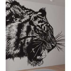 Vinyl Wall Decal Sticker Angry Tiger Growl Item791B