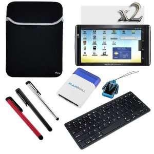 GTMax Black Neoprene Sleeve Case + Bluetooth Wireless