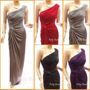 One Shoulder Bridesmaid Prom Gown Evening Long Maxi Dress